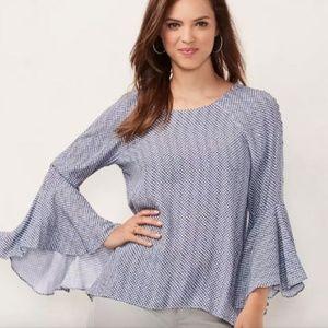 LC Lauren Conrad Bell-Sleeve Top